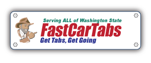 car tab renewal washington state logo